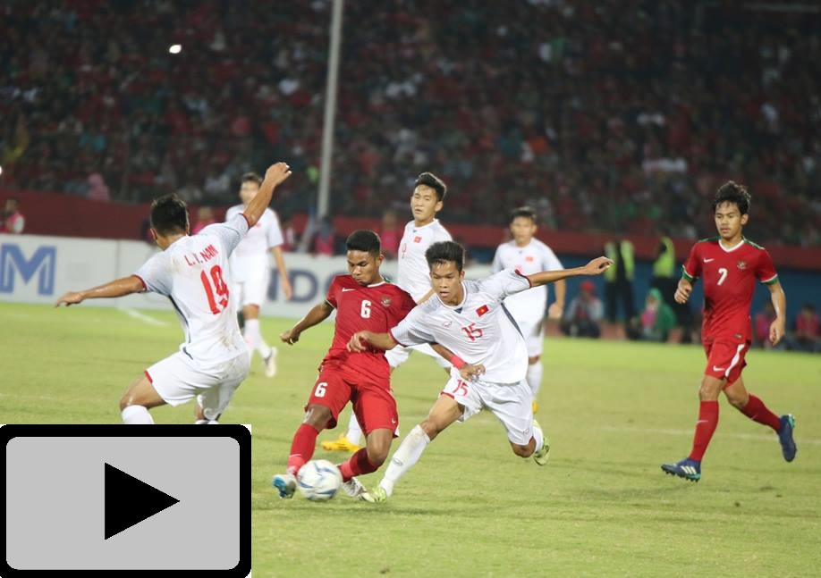 Video: U19 Việt Nam 0-1 U19 Indonesia (U19 Đông Nam Á 2018)