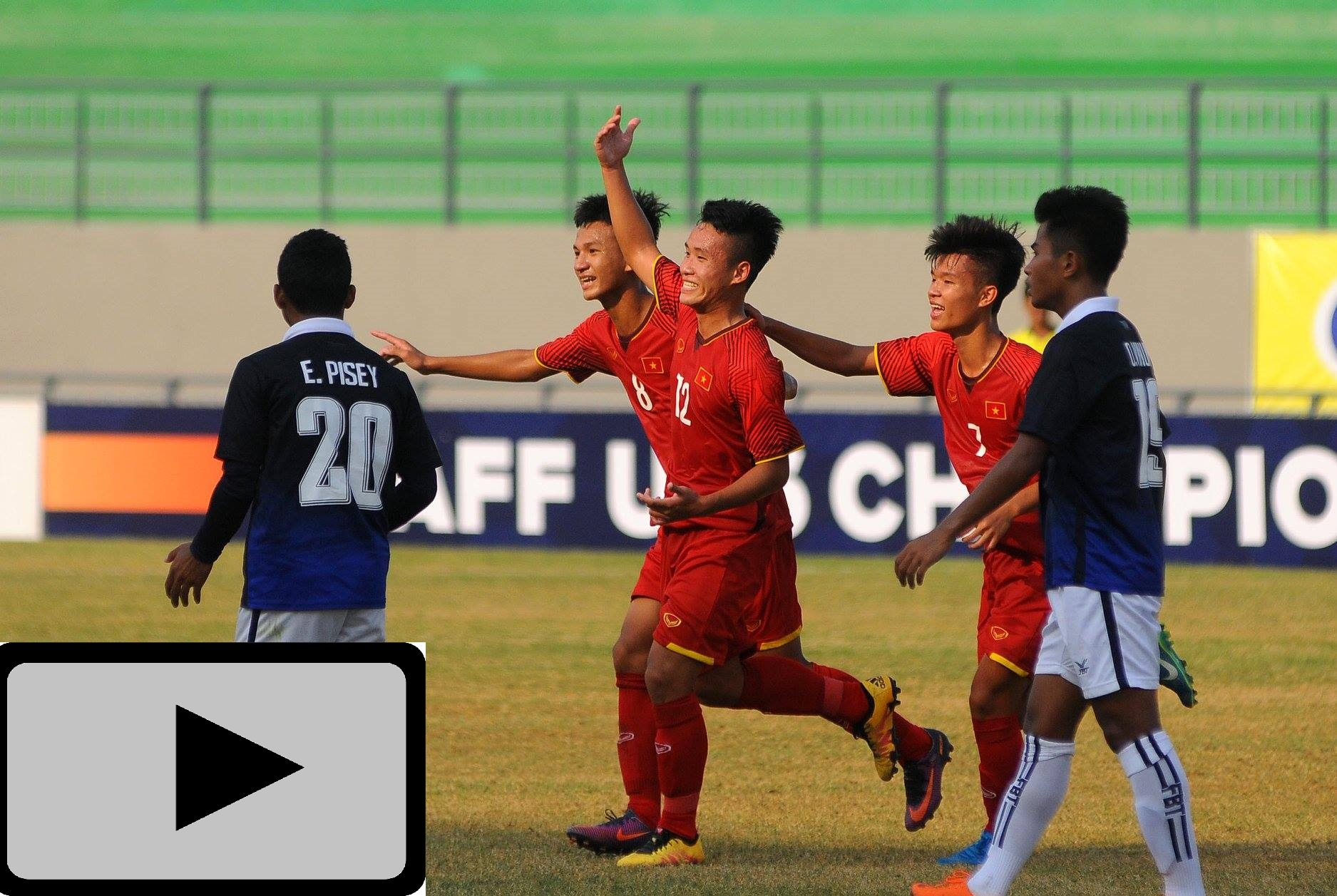 Highlights: U16 Việt Nam 6-1 U16 Philippines (U16 AFF 2018)