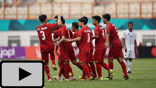 Highlights: Olympic Việt Nam 3-0 Olympic Pakistan (ASIAD 2018)