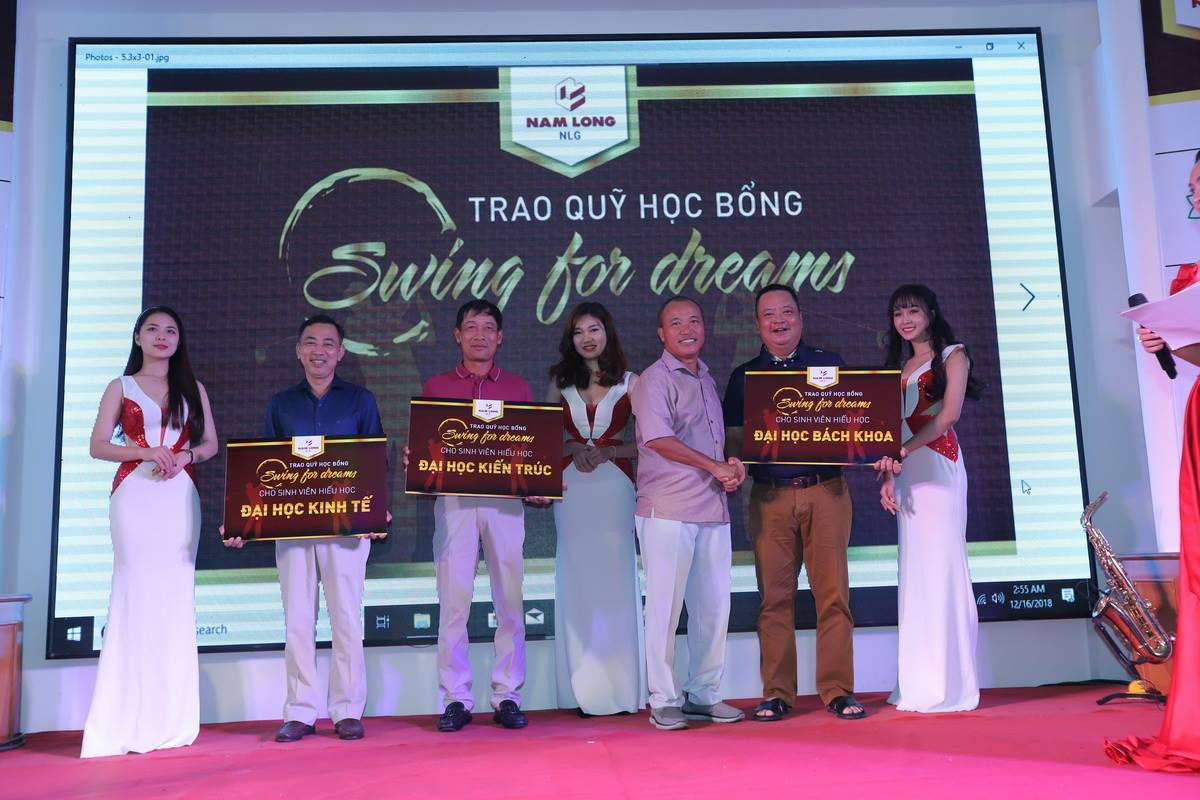 Giải golf 'Nam Long Friendship Tournament 2018' gây quỹ học bổng Swing for Dreams